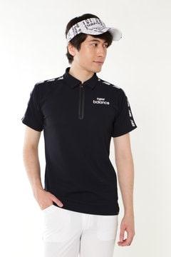袖山NBマーク ハーフジップ 半袖ポロシャツ (SPORT MENS)