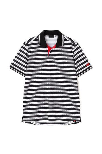 ロゴボーダー ミニカノコ 半袖ポロシャツ (MENS advanced pac)