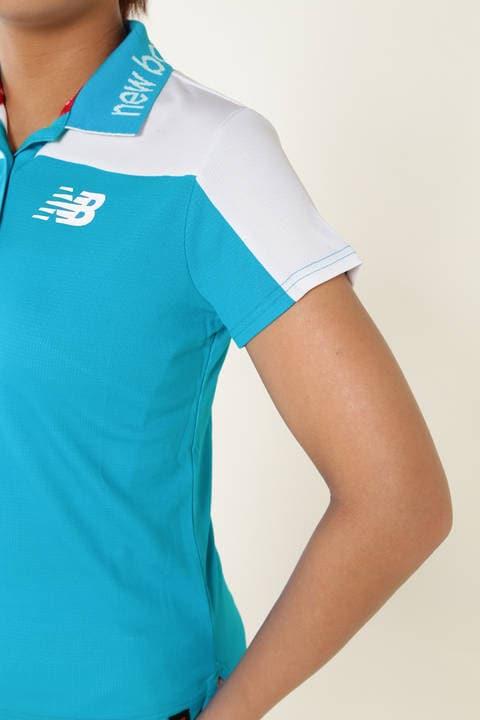 タギングシューズプリント スパンカノコ半袖ポロシャツ (METRO WOMENS)