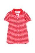 タイポグラフィロゴボーダー 半袖ポロシャツ (WOMENS)