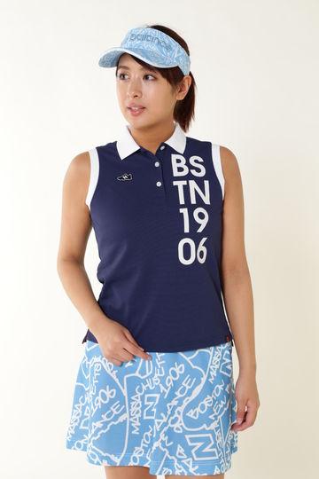 アイスコットン スリーブレス ポロシャツ (WOMENS METRO)
