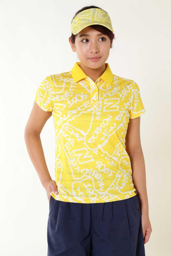 タギングシューズプリント 半袖ポロシャツ (METRO WOMENS)