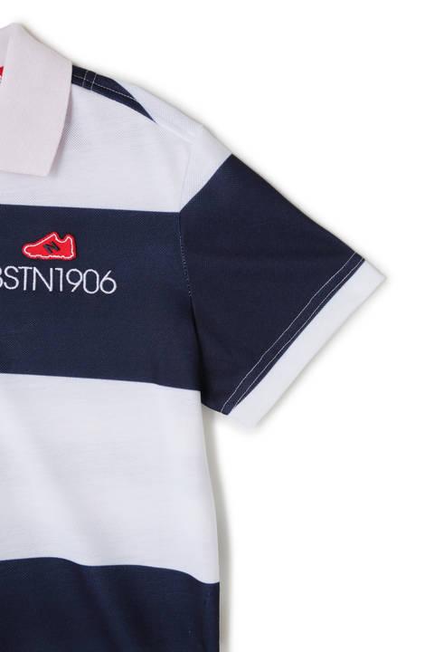 マルチボーダープリント 半袖ポロシャツ (WOMENS METRO)