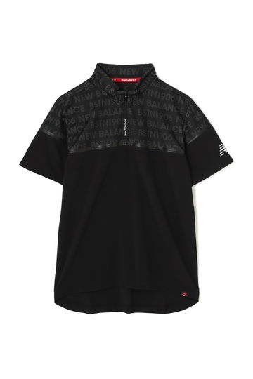 タイポグラフィジャガード 半袖ハーフジップシャツ (SPORT MENS)