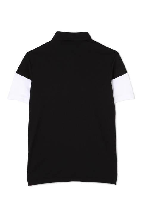 ロゴライン メッシュダブルフェイス カラーシャツ (MENS SPORT)