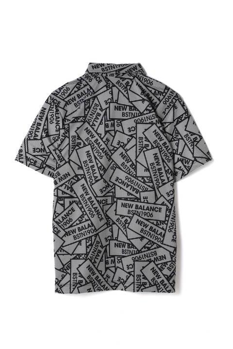 片染ギンガムチェック 半袖ステッカープリント カラーシャツ (METRO MENS)