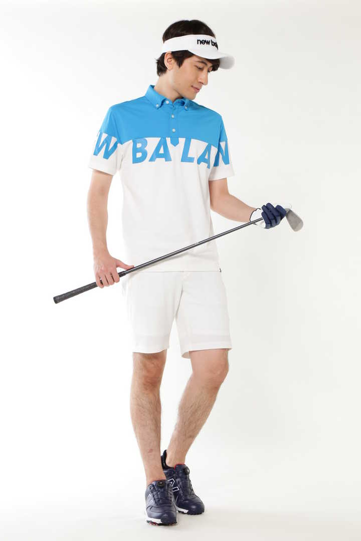 ボタンダウン ビッグロゴ 半袖カラーシャツ(MENS SPORT)