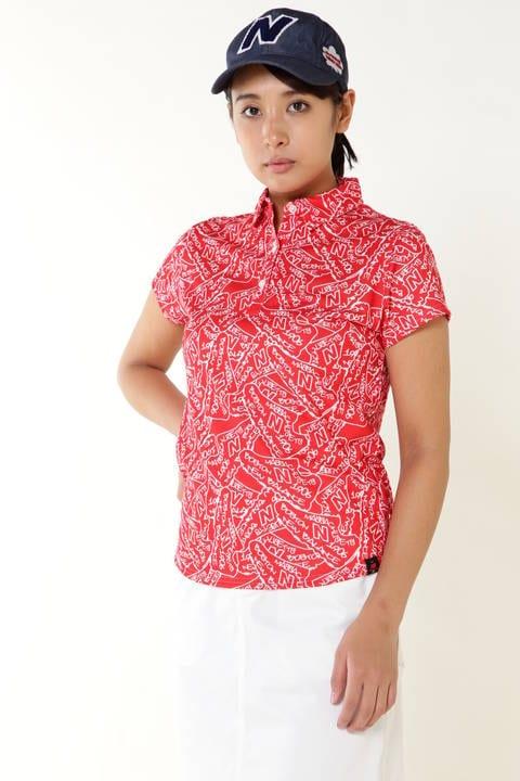 タギングシューズプリント 半袖カラーシャツ (METRO WOMENS)