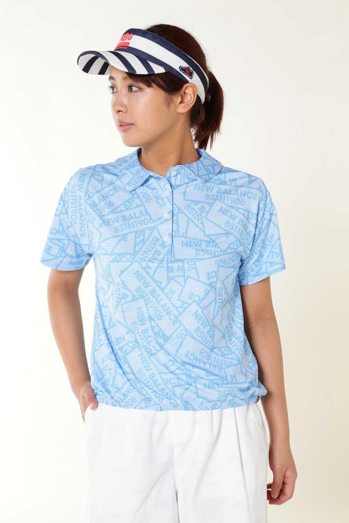 ギンガムチェック半袖ステッカープリント カラーシャツ (METRO WOMENS)