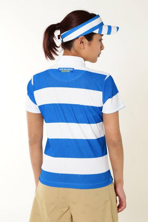 ワイドボーダー 半袖カラーシャツ (METRO WOMENS)