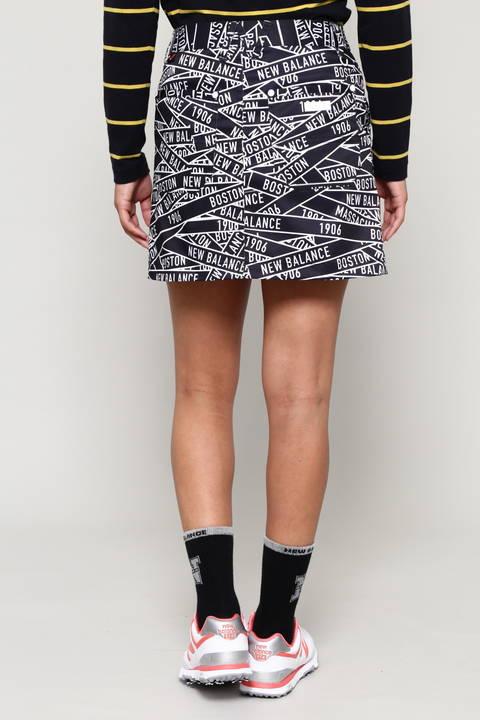 バリケードテーププリント ヴィンテージストレッチツイル スカート (WOMENS METRO)