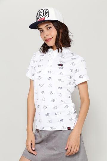 アイコンモノグラムプリント 半袖 ボタンダウン カラーシャツ  (WOMENS METRO)