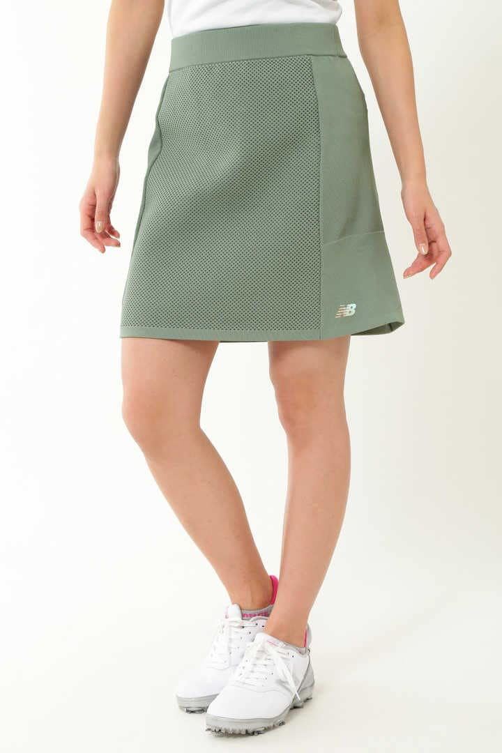 メッシュ×カノコ×プレーンニッティング ニットスカート (WOMENS SPORT)