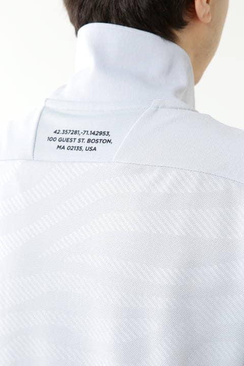 ゼブラプリント ストレッチピケ 半袖 ポロシャツ (MENS SPORT)