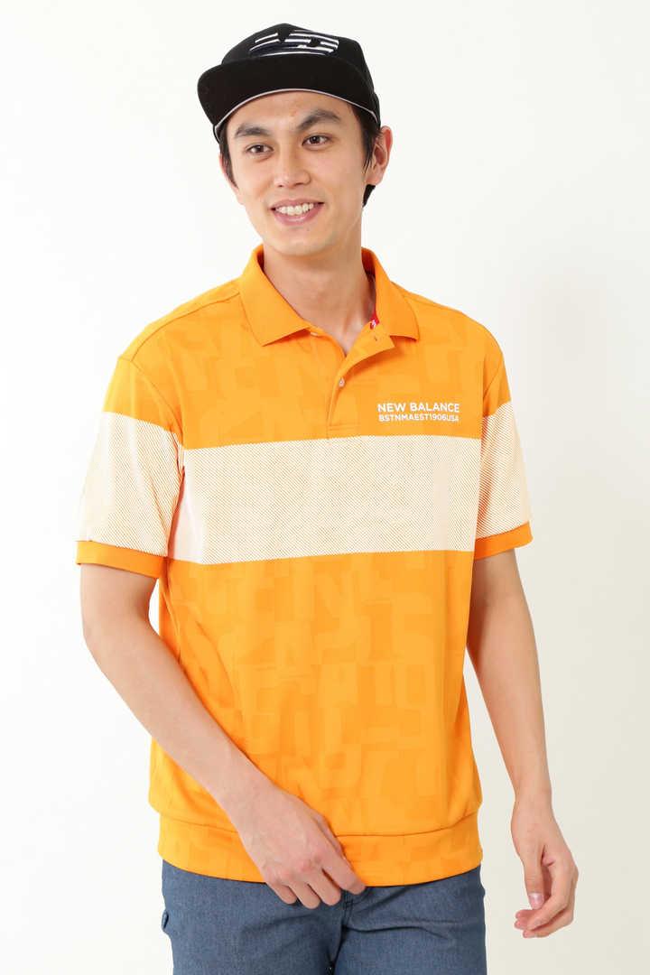 タイポモンタージュ3Dジャガード 半袖ポロシャツ (MENS METRO)