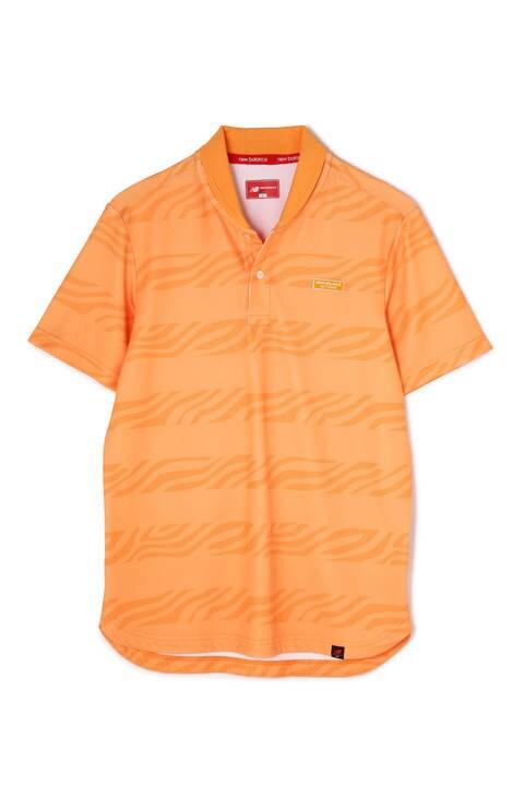 ゼブラボーダープリント 半袖 ポロシャツ (MENS METRO)