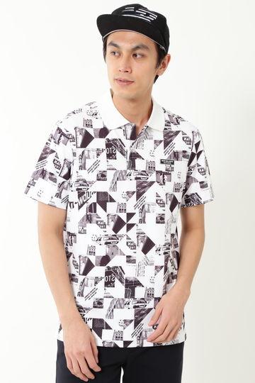 フォトモンタージュプリント 半袖 ポロシャツ (MENS METRO)