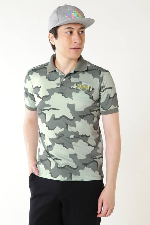カモフラージュ プリント 半袖 ポロシャツ (MENS advanced pac)
