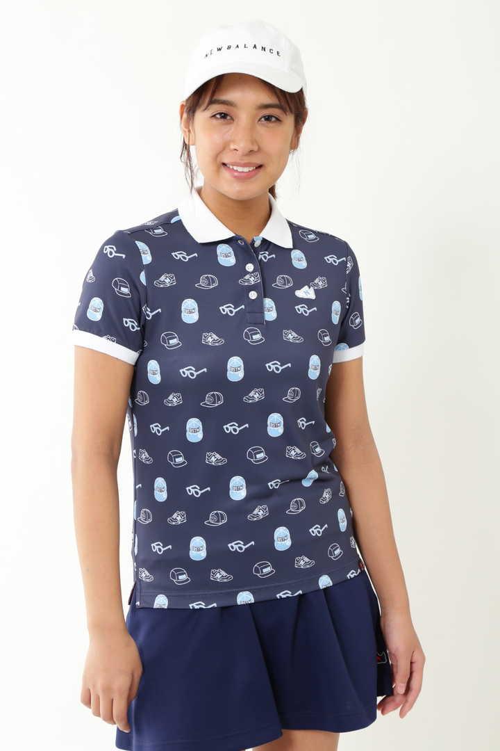 アイコン モノグラム プリント 半袖 ポロシャツ (WOMENS METRO)