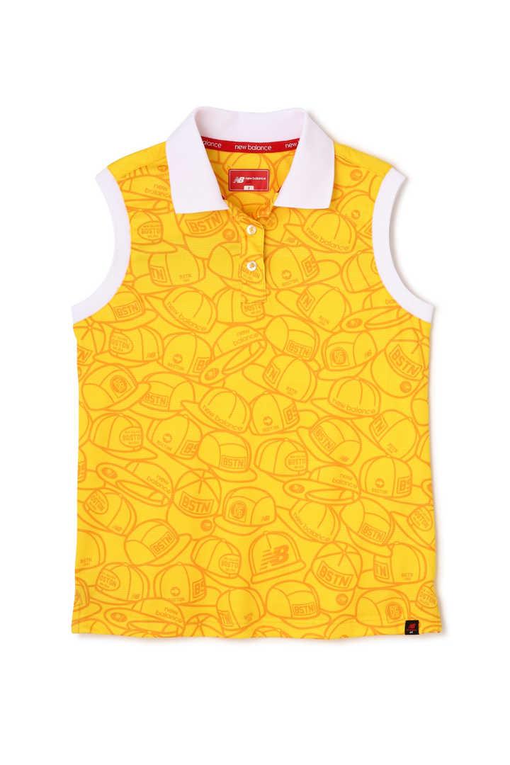 ヘッドウェアプリント×ソリッド スリーブレスポロシャツ (WOMENS METRO)