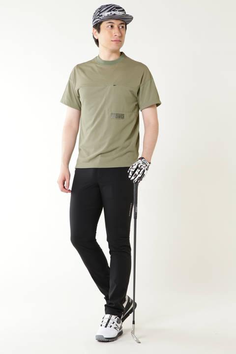 スパン天竺 × スクウェアメッシュ Tシャツ (MENS advanced pac)