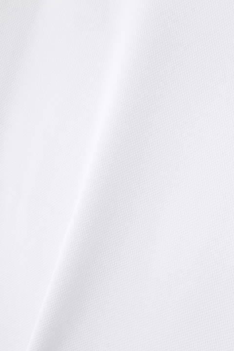 ソリッド×ゼブラエンボス ストレッチピケ 半袖 モックネック プルオーバー (WOMENS SPORT)
