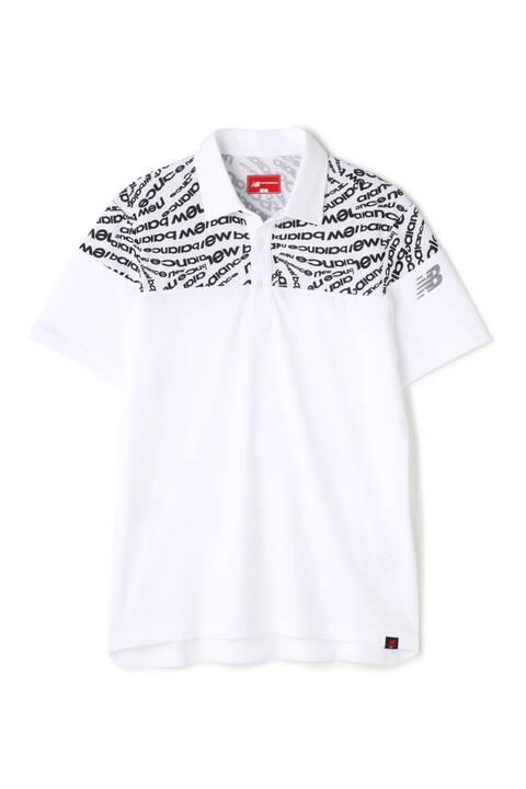 ソリッド×タイポゼブラ プリント 半袖カラーシャツ (MENS SPORT)