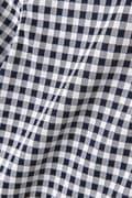 ストライプ×ギンガム ストレッチジャガード ボタンダウン 半袖 カラーシャツ (MENS METRO)