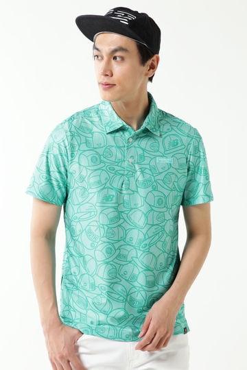 ヘッドウェア プリント ピンボーダージャガード 半袖カラーシャツ (MENS METRO)
