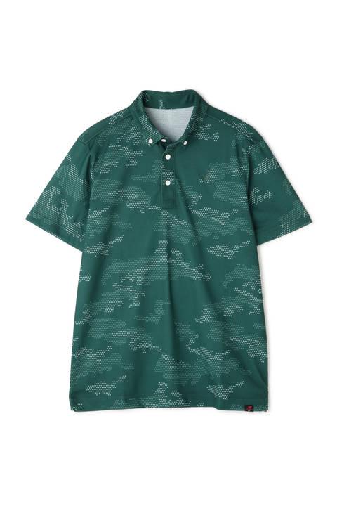 カモフラージュプリント 半袖 ボタンダウン カラー シャツ (MENS advanced pac)