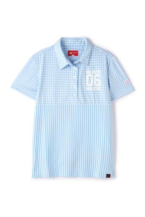 ストライプ×ギンガム 半袖 カラーシャツ (WOMENS METRO)