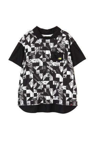 モンタージュプリント 半袖 カラーシャツ (WOMENS advanced pac)
