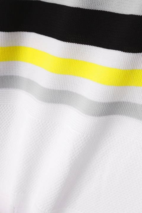 マルチボーダー 半袖 ニット ポロシャツ (MENS METRO)