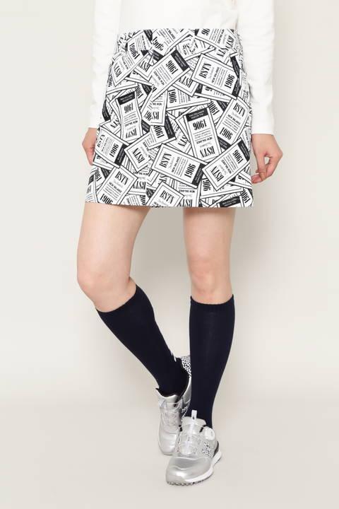 エントリーチケットプリント スカート (WOMENS METRO)