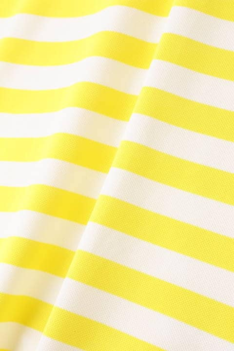 先染めボーダー 半袖ポロシャツ (MENS)