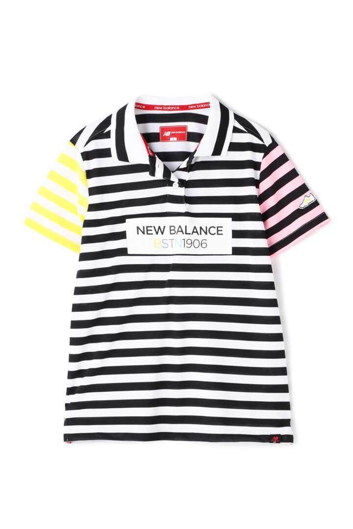 クレイジー パターン ボーダー 半袖ポロシャツ (WOMENS)