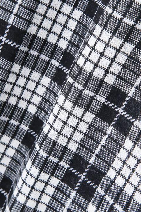 タータンチェック ジャガード 裏起毛 長袖カラーシャツ (MENS METRO)