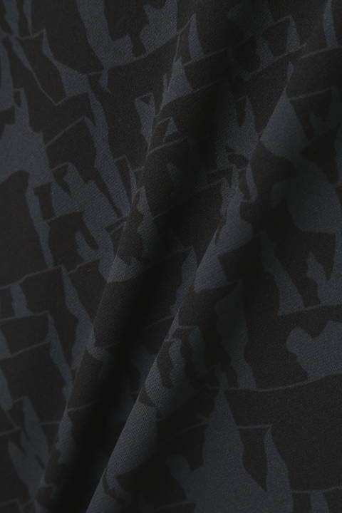 マウンテンチェーンプリント 長袖カラーシャツ (MENS METRO)