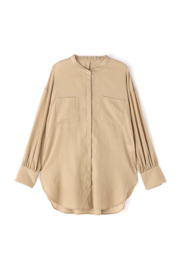 [洗える]シアーチュニックシャツ
