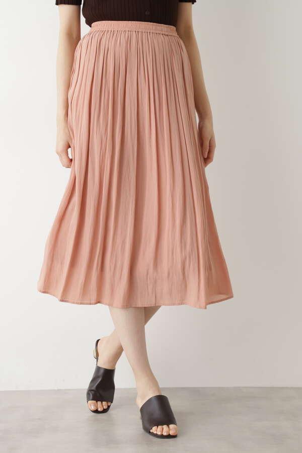 [洗える]楊柳ギャザースカート
