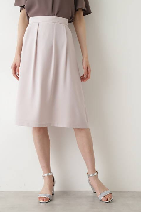 【先行予約5月上旬-中旬入荷予定】ツイルタックフレアスカート