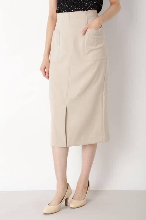 [洗える]ナローミディスカート