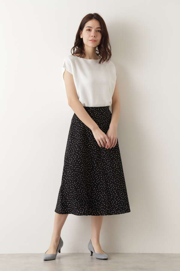 [WEB限定]ランダムドットプリントスカート