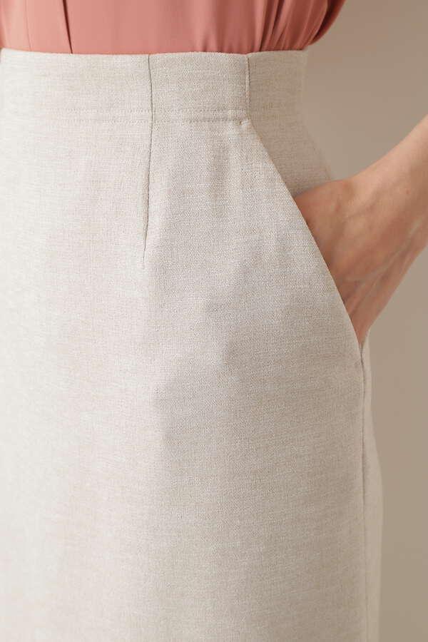[洗える]リネンライクカセット スカート
