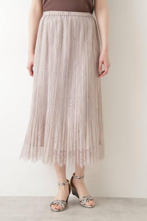 【先行予約6月下旬-7月上旬入荷予定】レースプリーツスカート