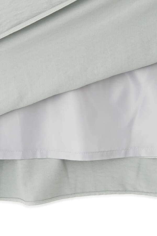 [洗える]サテンマーメイドスカート