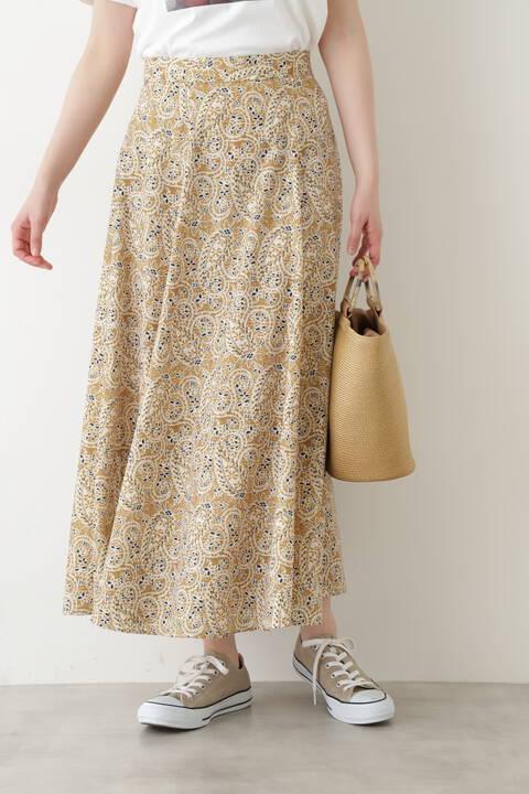 【先行予約5月上旬-中旬入荷予定】ペイズリープリントスカート