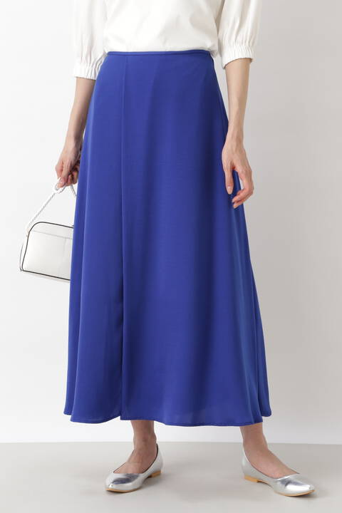 [洗える]サテンマキシスカート