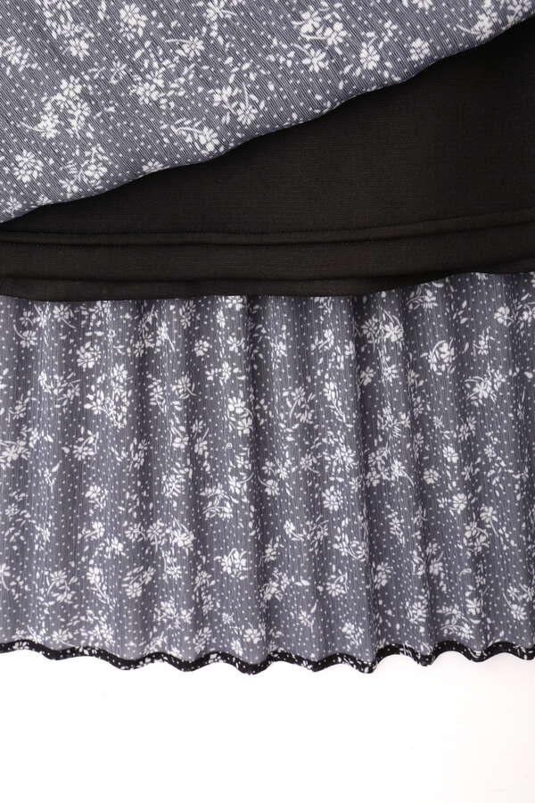 [洗える]プリントプリーツスカート
