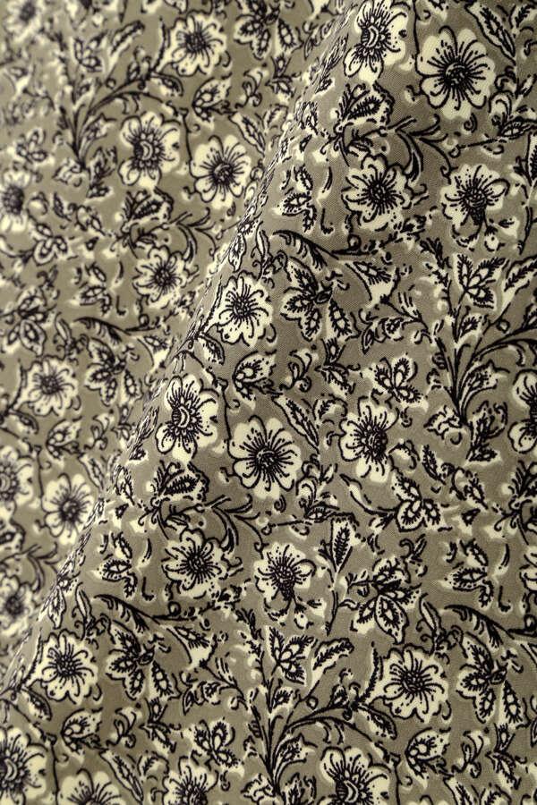 [洗える]フラワープリントナロースカート